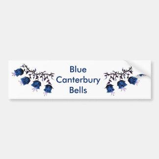 Cantorbery Belces azul en las flores de la vid Pegatina Para Auto