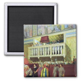 Cantoria en la capilla de Sistine Iman Para Frigorífico