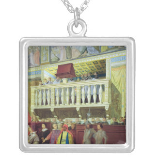 Cantoria in the Sistine Chapel Silver Plated Necklace