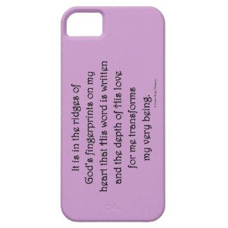 cantos de las huellas dactilares de dios iPhone 5 Case-Mate coberturas