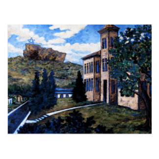 Cantril School House, Postcard Painting