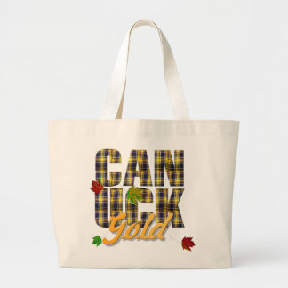 Canuck  GOLD Plaid Tote Bags