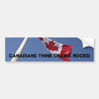Canucks like Obama bumper sticker Car Bumper Sticker