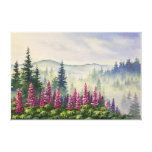 Canvas 24x16 - Lupines in Summer Fog