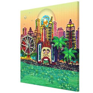 Canvas 25.29 x 25.29 inches Luna Park Sydney Peach