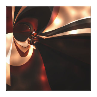 Canvas Abstract Art Chocolate Brown cappuccino glo Canvas Print