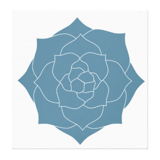 Canvas Art - Powder Blue Succulent Silhouette