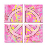CANVAS ARTWORK - SEPARATED PEACE - WALL DECOR GALLERY WRAP CANVAS
