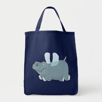 Canvas Bag: Flying Hippo