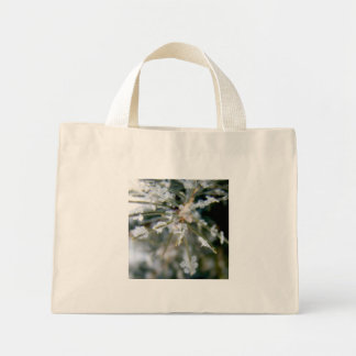 CANVAS BAG, Ice Crystals on Spruce Needles1 Mini Tote Bag