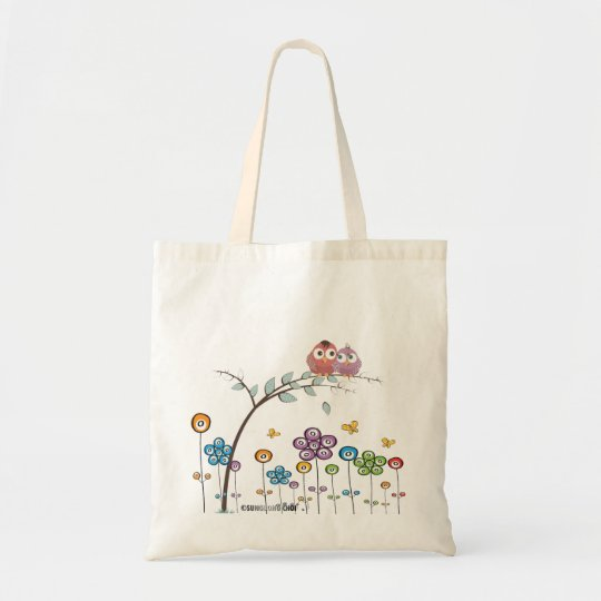 Canvas Bag-love bird Tote Bag