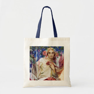 Canvas Bag: Mucha Magazine Illustration Tote Bag