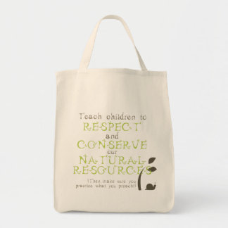 Canvas Bag with Original Environmental Message