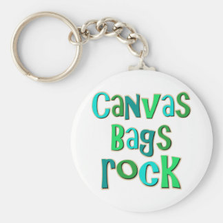 Canvas Bags Rock Keychain
