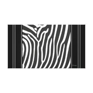 Canvas Black White Zebra Stripe Animal Print