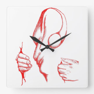 CANVAS CARNAGE RED Custom Square Wall Clock