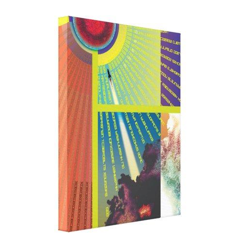 Canvas-Cloud Agenda Rocket1 Canvas Print