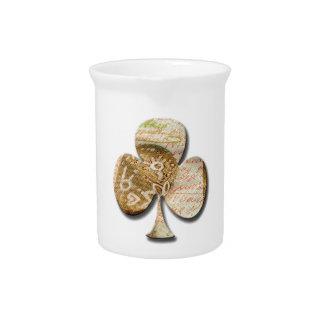 Canvas clover pitchers