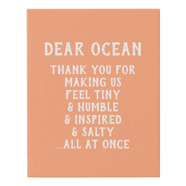 Canvas - Dear Ocean
