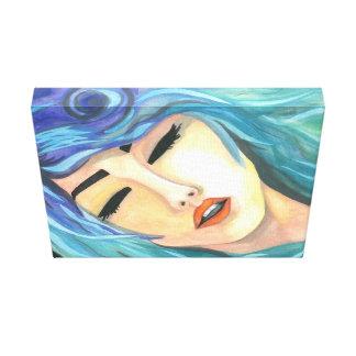 """Canvas """"Deep"""" Crystal Cross Watercolor"""