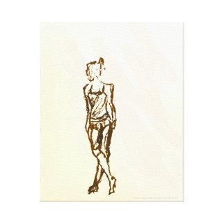 Canvas - Figure 02 Stretched Canvas Print