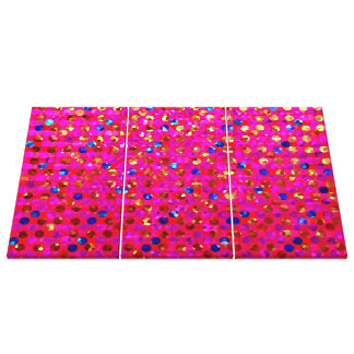 Canvas Glitter Polka Dot Sparkley Jewels