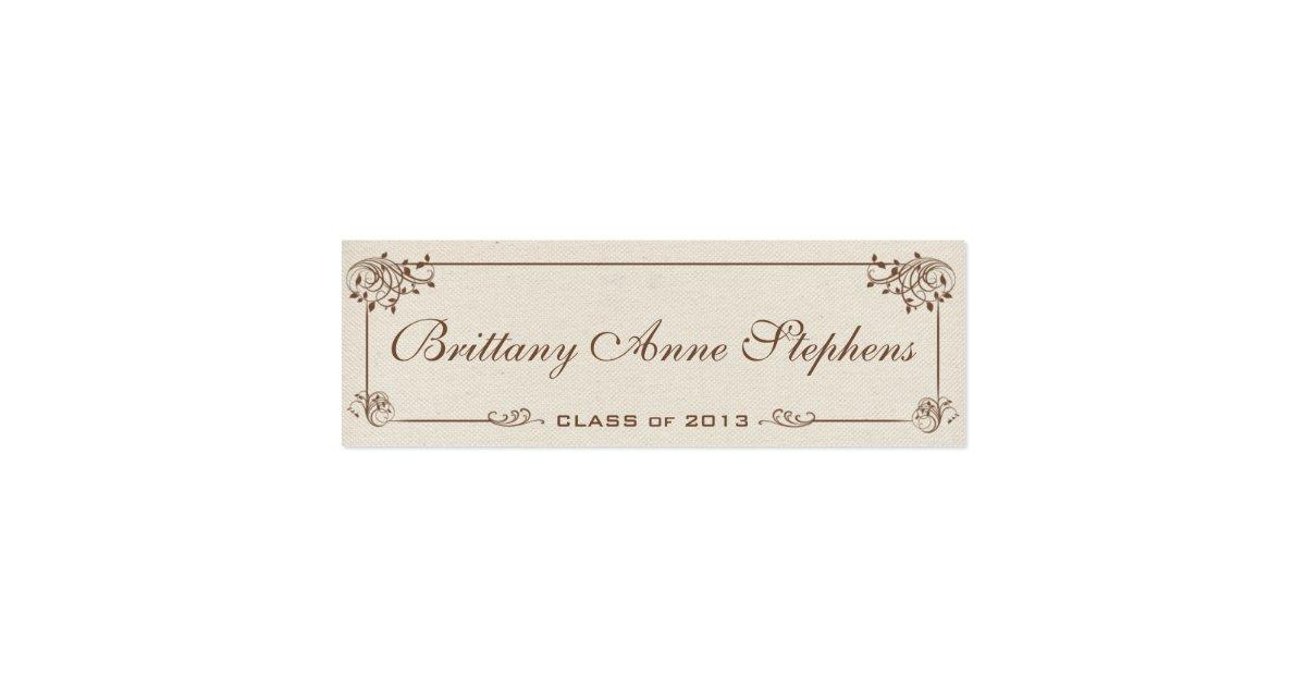 canvas graduation name card insert zazzle. Black Bedroom Furniture Sets. Home Design Ideas