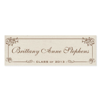 Canvas Graduation Name Card Insert Double-Sided Mini Business Cards (Pack Of 20)