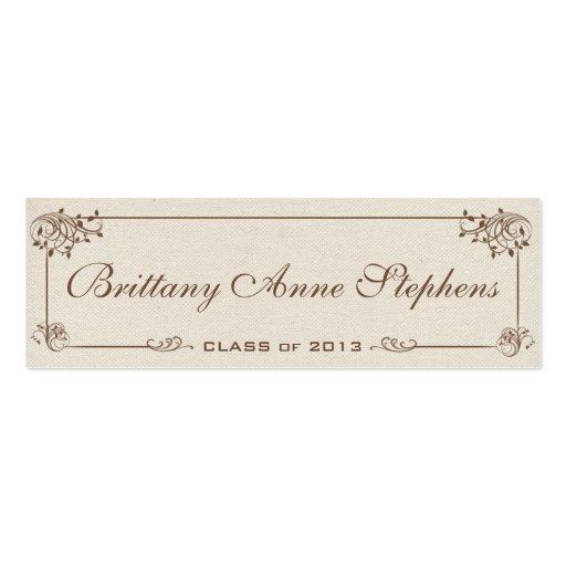 Canvas Graduation Name Card Insert Business Card