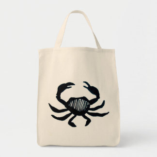 Canvas Grocery Tote Bag - Crab