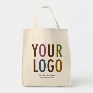 Canvas Grocery Tote Bag with Logo No Minimum Order
