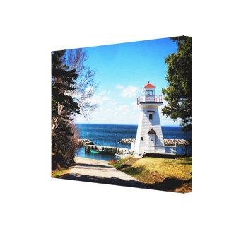 "Canvas ""Hampton lighthouse Nova Scotia Canada"""