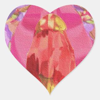Canvas Heart Sticker