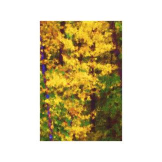 Canvas, Intense Yellow, Impressionist Style Canvas Print
