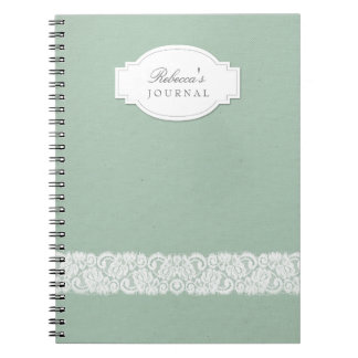 Canvas & Lace Rustic Personalized Notebook