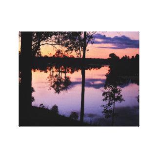 Canvas: Lake During Twilight Canvas Print