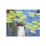 Canvas - Lily Pad Frog Stretched Canvas Print