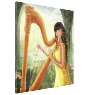 Canvas Magic Harp Stretched Canvas Prints