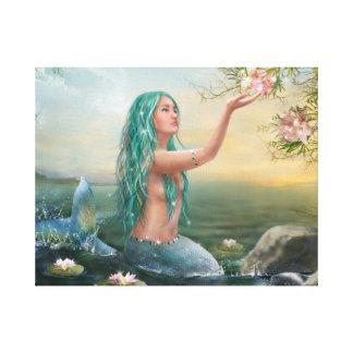 "Canvas "" Mermaid Ariel"""