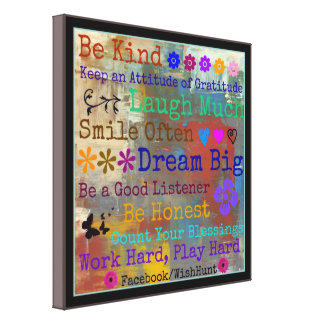Canvas Motivational Poster by WishHunt Canvas Print