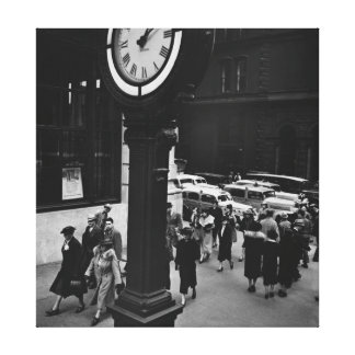 Canvas New York Vintage pictures clock