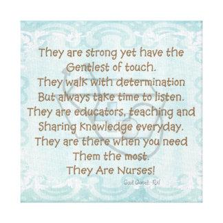 """Canvas Nurse Poem Wall Art """"They Are Nurses!"""""""