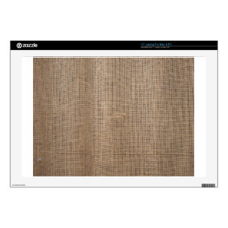 "Canvas of burlap texture decals for 17"" laptops"