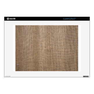 Canvas of burlap texture skins for laptops
