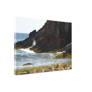 Canvas of crashing wave Atlantic ocean Nova Scotia