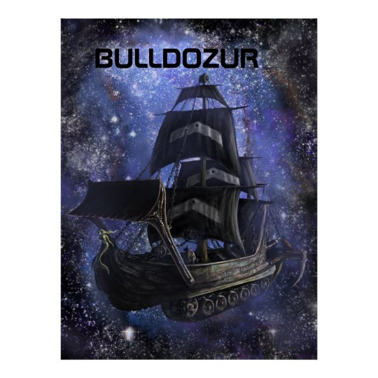"Canvas of ""The Bulldozur Vessel"" Poster"