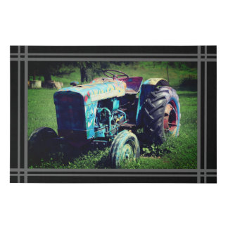 Canvas photo - colorful tractor