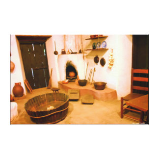 CANVAS PHOTOGRAPHY - 1800s MISSION KITCHEN - GIFTS