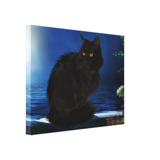 Canvas picture Black Cat