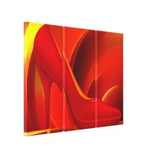 Canvas picture High heel shoe talk